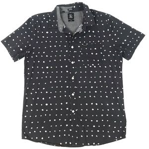 Volcom Polka Dot Button Down Shirt
